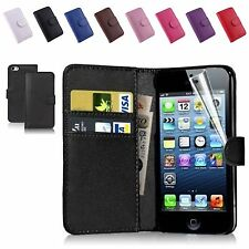 New PU Leather Card Holder Wallet Flip Phone Case Cover For iPhone Samsung