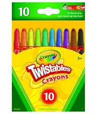NEW Crayola  Twistables 10 Mixed color Crayon  (PACK OF 1&2) - 605 FREE SHIPPING
