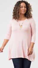 3/4 Sleeve A Line Plus Size Tunic Top - XL, 2X, 3X - Made In USA - NWT