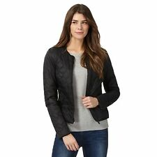 The Collection Womens Black Quilted Bomber Jacket From Debenhams