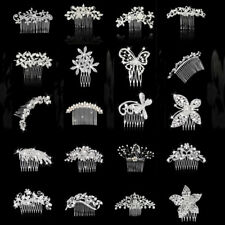 Elegant Wedding Party Bridal Shiny Crystal Women Hair Comb Hairpins Jewelry Gift