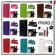 Etui porte-carte coque housse Wallet card slot Cover case MOTOROLA Moto Z