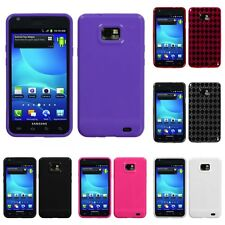 For Samsung Galaxy S2 i9100 TPU Rubber Skin Flexible Case Phone Cover