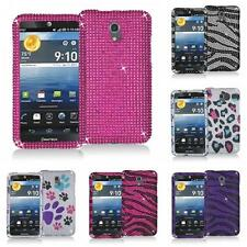 For Pantech Discover P9090 Phone Color Bling Diamond Rhinestone Hard Case Cover