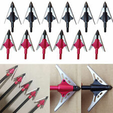 100 Grain 2 Blade Expandable Arrow Head Broadheads for Archery Bow Hunting Lot