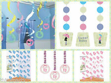 Baby Shower Decorations - Hanging Strings and  Swirls - ** Free Postage **