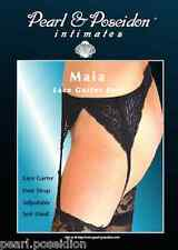 "Lace Garter Belt sexy black garter belt with adjustable straps sexy look ""Maia"""