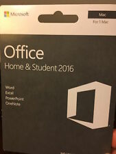 Microsoft Office Home and Student 2016 Product Key for Mac (Retail) - GZA-01017