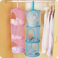Wall 3 Tier Compartment Mesh Wall Hanging Storage Clothes Underwear Organizer