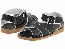 NEW INFANT TODDLER SALT WATER BLACK SANDAL 886 ORG BABY SUN-SAN BY HOY SHOES