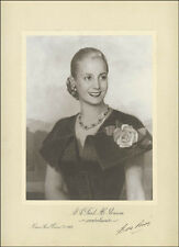 "EVA ""EVITA"" PERON - ILLUSTRATION SIGNED 02/07/1952"