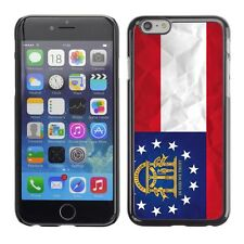 Hard Phone Case Cover Skin For Apple iPhone Georgia Flag US State Paper effect