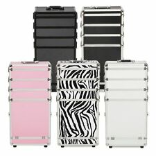 4in1Aluminum Rolling Makeup Train Case Wheel Cosmetic Box Drawer Professional KN