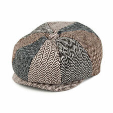 Jaxon & James Baby Herringbone Patch Newsboy Cap - Multicoloured