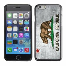 Hard Phone Case Cover Skin For Apple iPhone California Flag US State Metal effec