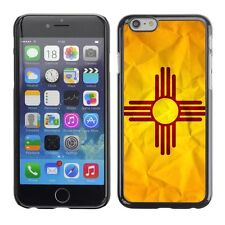 Hard Phone Case Cover Skin For Apple iPhone New Mexico Flag US State Paper effec