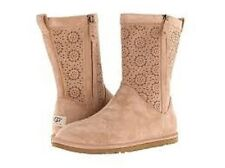 UGG Lo Pro Short Perf in Fawn suede size 6 $175  FREE DOMESTIC SHIPPING