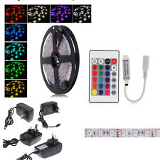 5M RGB 5050 Color Changes LED Strip light + Controller Power Adapters