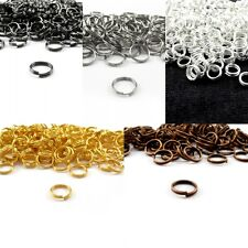 Silver Gold Plated Double Open Split Jump Rings Connectors Jewelry Findings DIY