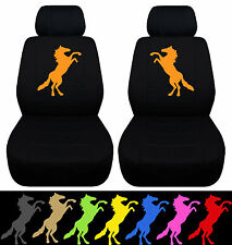 CC 05-08 FORD MUSTANG FRONT CAR SEAT COVERS W/STANDING MUSTANG ,CHOOSE UR COLOR