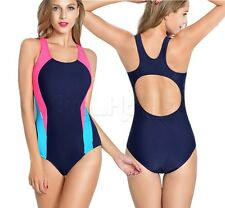 Women Padded Professional Sport Maillot One-Piece Swimsuit Bathing Suit Swimwear
