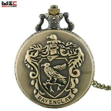 Bronze Harry Potter Vintage Antique Pocket Watch Quartz Necklace Chain Pendant