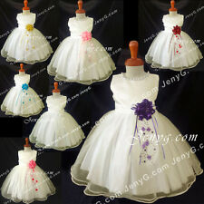 NLI9 Flower Girl Wedding Christening Holy Communion Pageant Formal Gown Dress