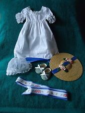 Pleasant Company Felicity SUMMER GOWN + HAT + SLIPPERS+MORE EUC
