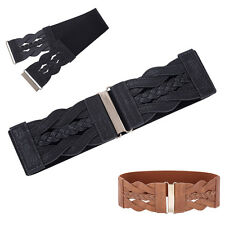 Women Girl Lady Wide Metal Hook Elastic Waist Belt Waistband Buckle Cinch SALE!