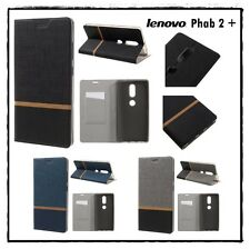 Etui porte-carte coque housse card holder Wallet Cover case LENOVO Phab 2 plus +