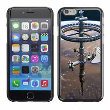 Hard Phone Case Cover Skin For Apple iPhone Round space station on Mars