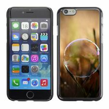Hard Phone Case Cover Skin For Apple iPhone Soap bubble on grass pick