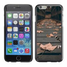 Hard Phone Case Cover Skin For Apple iPhone Dead dry leaves cover bridge