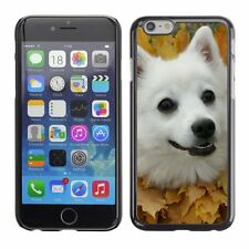 Hard Phone Case Cover Skin For Apple iPhone Spitz dog in leaves collar