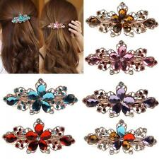 Rhinestone Crystal Clamp Hairpin Barrette Hair Clip