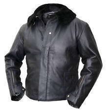 NEW Mens Flying Bomber Jacket black leather Vintage Pilots Coat fur classic WW2