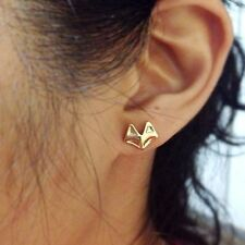 Color Alloy Plated Eardrop Cute Earring Stud Earring Tiny Fox Head Ear Stud