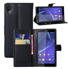 FOR SONY XPERIA Z1 Flip Leather Wallet case Card Holder Stand Case/Pouch