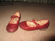 RED SPARKLY SHOES SIZE 12 IDEAL FOR WORLD BOOK DAY (DOROTHY WIZARD OF OZ)