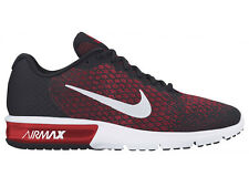NEW MENS NIKE AIR MAX SEQUENT 2 RUNNING SHOES TRAINERS BLACK / TEAM RED / UNIVER