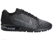 NEW MENS NIKE AIR MAX SEQUENT 2 RUNNING SHOES TRAINERS BLACK / METALLIC HEMATITE