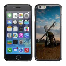 Hard Phone Case Cover Skin For Apple iPhone Old windmill at sunset