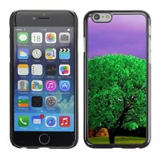 Hard Phone Case Cover Skin For Apple iPhone Ultra green tree purple sky