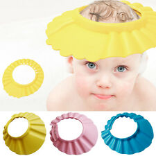 New Soft Shower Cap Hat Shampoo Bath Bathing Baby Kids Children Wash Hair Shield