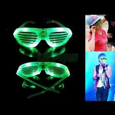 New LED Shutter Shades Flash Light Glasses Rave Club Party Costume Slotted Glow