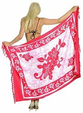 Aloha Hibiscus Swimsuit Sarong Dress Plus Pareo Wrap Cover up Bathing Suit Scarf
