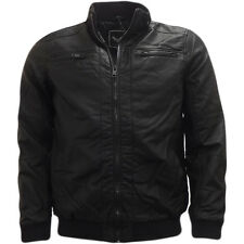 Mens Leather Look PU Jacket by Brave Soul  'Leroy'