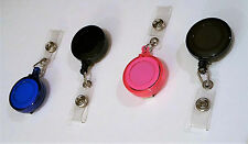 Retractable ID Card Badge Holder Reel Key Tag Pull Clip Holder Retract