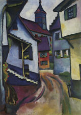 August Macke - Choose Your Size QUALITY Decor Canvas Art Print Poster Unframed