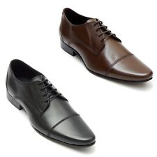 Lucini Mens Genuine Mens Office Formal Casual LaceUp Shoes Black & Brown